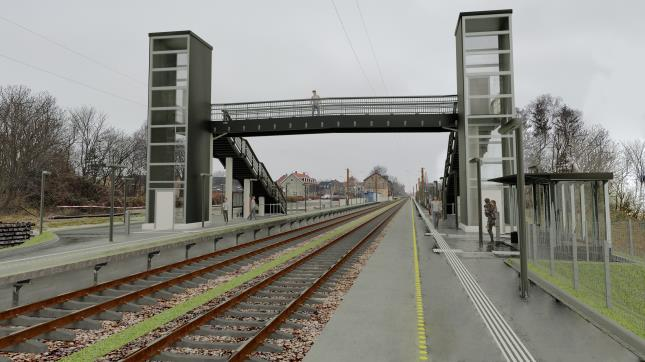 Visualisering Nørre Alslev Station